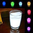 빛나는 우유 컵 디자인 7가지 색상으로 변하는 홈 장식 나이트 조명 (3xAAA)
