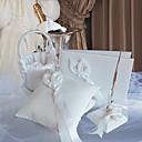 Calla lilje bryllup samling satt i wihte satin (4 stk)