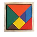 patroon het maken van houten tangram iq puzzel
