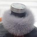 ts coniglio grigio di pelliccia al collo avvolgente (45cmx10cm) (più colori)