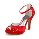 CORNWALL - Sapato Dedo Aberto para Casamento em Cetim