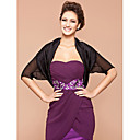 Short Sleeve Silk/ Polyester Office & Career Evening Jackets/ Wraps Bolero Shrug