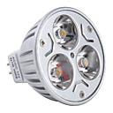 3W GU5.3(MR16) Lâmpadas de Foco de LED MR16 3 LED de Alta Potência 270 lm Branco Quente DC 12 V