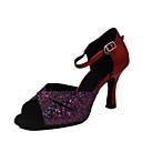 brilho cintilante / leatherette superior sapatos femininos de dança de salão sapatos latin cores mais