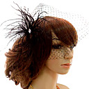 Gorgeous High Quality Tulle Wedding Bridal Headpiece Black