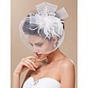 gorgeous Tüll mit Feder Brautschleier / Kopfstück