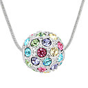 Colorful Alloy With Round Shape Crystal Pendant Ladies' Necklace