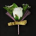 flores do casamento de cetim / algodão de forma livre dos homens boutonniere