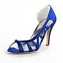 красивый насосы шпильках атлас пятки полых из свадьба женская обувь