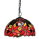 Max 60W Tiffany / Bowl Mini Style Electroplated Pendant Lights Living Room / Bedroom / Dining Room / Entry / Game Room