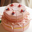 리본과 곰 (20 세트)과 분홍색 카드 종이 결혼식 호의 상자
