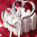 Cake Topper Non-personalized Hearts Resin Silver