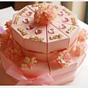 꽃 분홍색 카드 종이 결혼식 호의 상자 (20 세트)