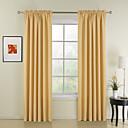 Ny stil gule solide polyester gardiner forhæng