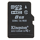 8GB Kingston Class 10 Micro SD/TF SDHC Memory Card