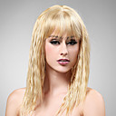 Capless Long High Quality Synthetic Nature Look Light Blonde Curly Hair Wig