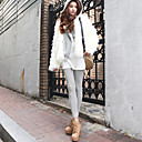 Charming Long Sleeve Hooded Collar Casual / Evening Faux Fur Jacket (mehr Farben)