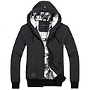 Men's Solid Color Slim Hoodie Cardigan