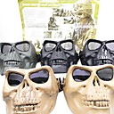 Airsoft High Intensity Plastic Full-Face Protection Skull Mask without Forehead (Assorted Colors)