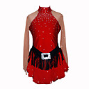 Fille de patinage artistique robe (rouge)