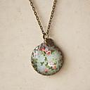 ženske vintage cvjetni ogrlicu (privjeska: 2,5 * 2,5 cm, dužina: 60cm)