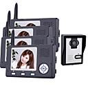 Wireless Night Vision Camera with 3.5 Inch Door Phone Monitor (1camera 4 monitors)