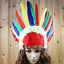 Indian Style Colorful Feather Holiday Headpiece