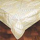 imprimé feuilles rectangulaires en tissu 100% coton blanc de table