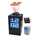 Reloj Alarma Digital para Escritorio con Calendario, Termómetro y Proyector de Tiempo (Color Aleatorio, 3xAA)