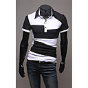Polo dos homens T-shirt com Color Block