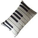 Oreiller Décoration gracieuse de clavier de piano de modèle avec insert
