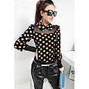 PRENAIR Polka Dots Bubble Sleeve Shirt