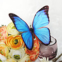 bryllup indretning smukke lyseblå plastik sommerfugl (sæt af 6)