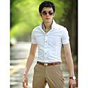Män tunna kortärmad skjorta