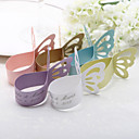 Personalized Butterfly Design Pearl Paper Napkin Ring - Set of 12 (More Colors)