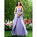 Military Ball / Formal Evening / Wedding Party Dress - Lavender Petite Sheath/Column Sweetheart / Spaghetti Straps Floor-length Chiffon