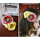 Women's Sweet Romantic Double Flowers Hair Clip