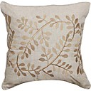 Embroidery Leaves Love Linen Decorative Pillow Cover