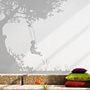 Árbol y mariposa etiqueta de la pared