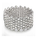 Women's Cuff Bracelet Alloy Crystal