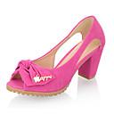 Zapatos de mujer - Tacón Robusto - Punta Abierta - Sandalias / Tacones - Vestido - Ante - Azul / Amarillo