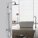 Contemporaine Centerset Chrome robinet de douche avec pomme de douche + douche à main