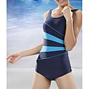Women's Straped One-pieces , Color Block Nylon/Spandex Black/Blue