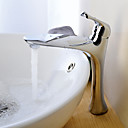 Vessel Single Handle One Hole in Chrome Bathroom Sink Faucet