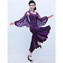 Dancewear Viscose And Lace With Ruffles Latin Dance Outfits for Ladies