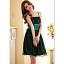 Women's Casual / Party / Plus Sizes Dress , Strap Above Knee Satin / Mesh