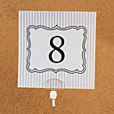 Place Cards and Holders Simple Square Table Number Card (set of 10)