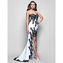 Formal Evening/Military Ball Dress - White Trumpet/Mermaid Strapless/Sweetheart/Spaghetti Straps Asymmetrical Chiffon
