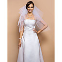Four-tier Elbow Veil With Cut Edge & Paljetit (More Colors)