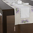 pays chemins de table en lin floral pourpre